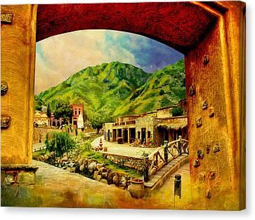 Saidpur Village Canvas Print by Catf