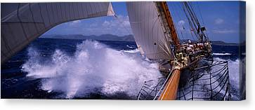 Sailboat In The Sea, Antigua, Antigua Canvas Print by Panoramic Images
