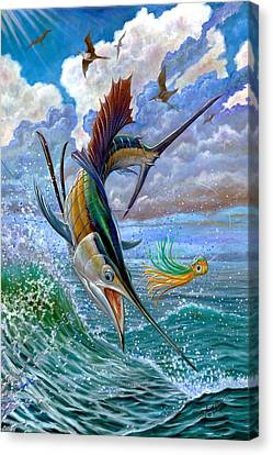 Sailfish And Lure Canvas Print