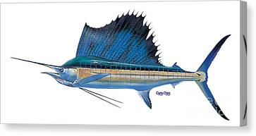 Swordfish Canvas Print - Sailfish by Carey Chen