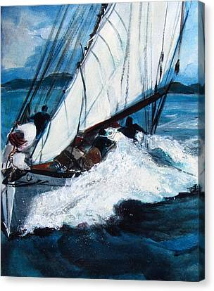 Sailing Canvas Print by Betty Pieper