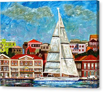 Sailing In Canvas Print