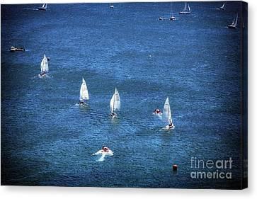 Sailing Canvas Print by John Rizzuto