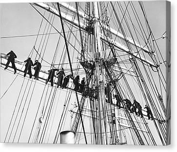 Sailors In The Rigging Canvas Print