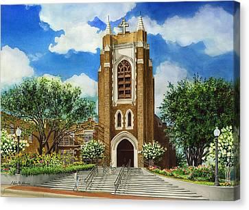 Saint Andrews Episcopal Church Bryan Texas Canvas Print by Hailey E Herrera