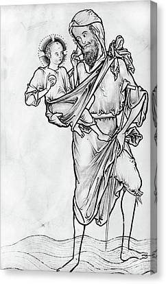 Saint Christopher Canvas Print