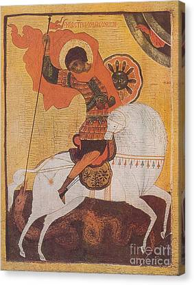 Saint George And The Dragon Canvas Print by Photo Researchers