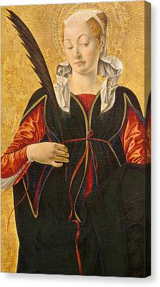 Saint Lucy Canvas Print by Francesco del Cossa