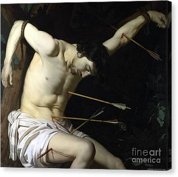 Saint Sebastian Canvas Print by Celestial Images