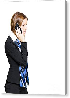 Sales And Marketing Business Woman Canvas Print by Jorgo Photography - Wall Art Gallery
