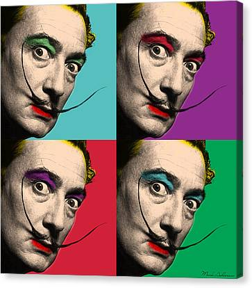 Caricature Canvas Print - Salvador Dali  by Mark Ashkenazi
