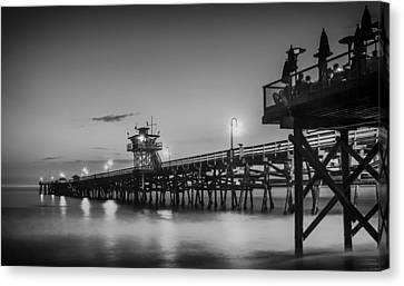 San Clemente Pier At Sunset Canvas Print