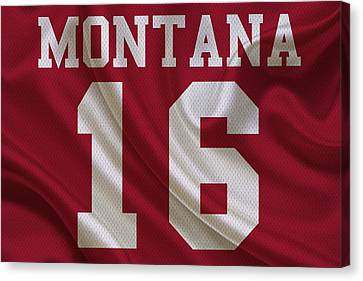 San Francisco 49ers Joe Montana Canvas Print by Joe Hamilton