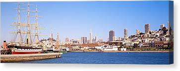 Tall Ship Image Canvas Print - San Francisco Ca by Panoramic Images