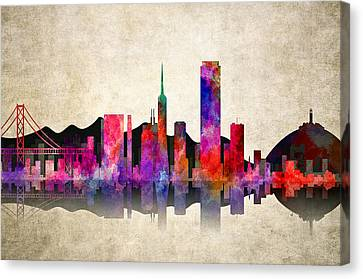 San Francisco Skyline Canvas Print by Daniel Hagerman
