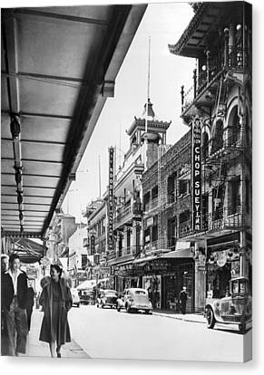 San Francisco's Chinatown Canvas Print by Underwood Archives