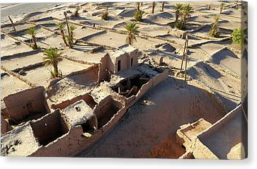 Sand-covered Abandoned Homes Canvas Print