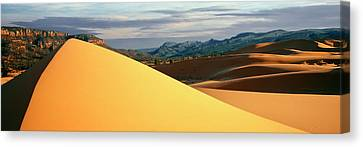 Coral Pink Sand Dunes Canvas Print - Sand Dunes In A Desert, Coral Pink Sand by Panoramic Images
