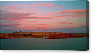 Sand Hollow River  Sunset 1 Canvas Print