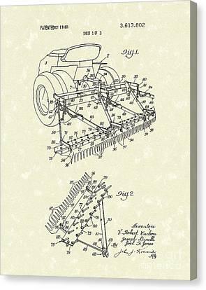Sand Trap Rake 1971 Patent Art Canvas Print
