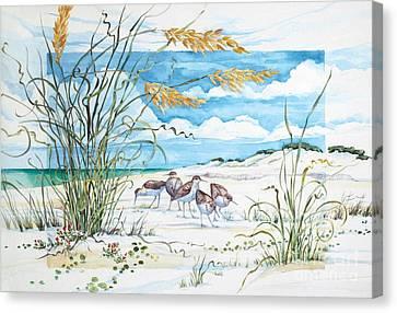 Sandpiper Dunes Canvas Print