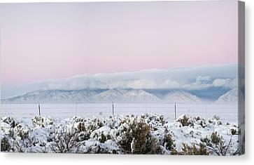 Sangre De Cristo Range With Clouds Canvas Print