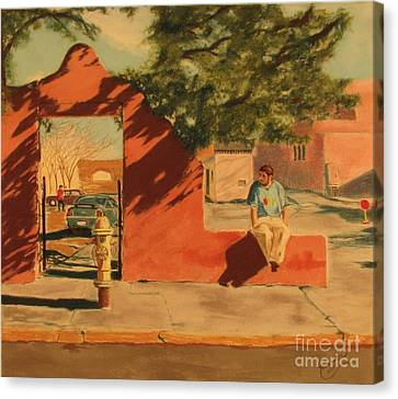 Santa Fe Sidewalk Canvas Print