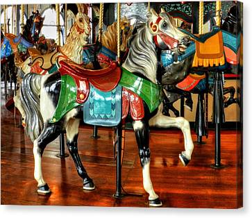 Santa Monica Carousel 003 Canvas Print by Lance Vaughn