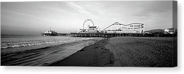 Santa Monica Pier, California, Usa Canvas Print by Panoramic Images