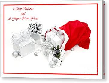 Silver-filled Canvas Print - Santa's Bag by Jan Tyler