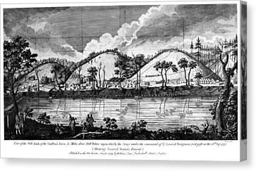 Saratoga: Encampment, 1777 Canvas Print by Granger