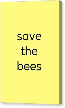 Save The Bees Canvas Print by Kim Fearheiley