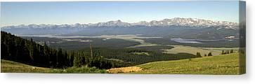 Sawatch Panoramic Canvas Print by Jeremy Rhoades