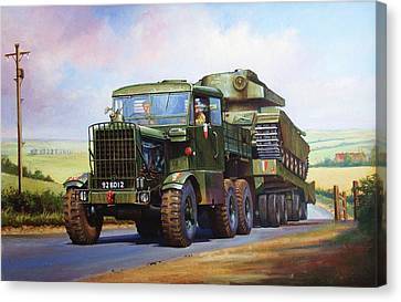 Scammell Explorer. Canvas Print by Mike  Jeffries