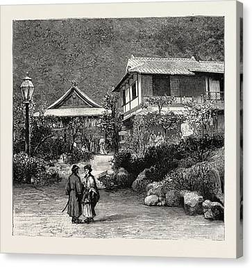 Scenes In The Towns And Districts Recently Devastated Canvas Print by Japanese School