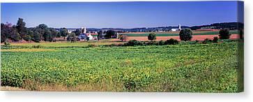 Scenic View Of A Farm, Pennsylvania Canvas Print
