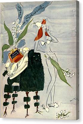Schiaparelli 1940s Usa    Womens Canvas Print by The Advertising Archives