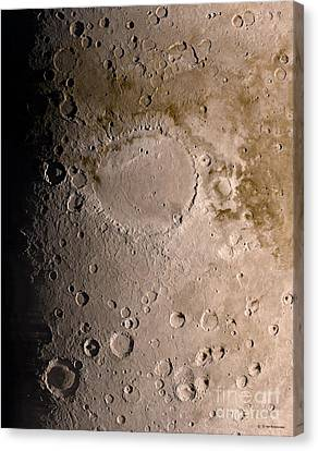 Schiaparelli Crater, Mars, Artwork Canvas Print