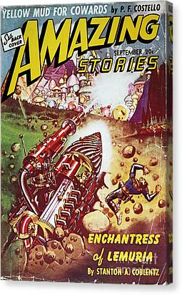 Sci-fi Magazine Cover 1941 Canvas Print by Granger