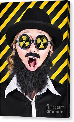 Science Research Geek With Atomic Discovery Canvas Print by Jorgo Photography - Wall Art Gallery
