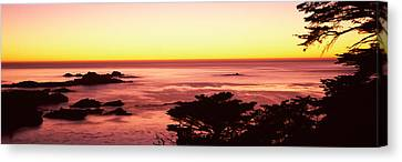 Sea At Sunset, Point Lobos State Canvas Print by Panoramic Images