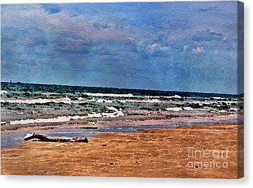Sea Sand Wc Canvas Print by Ken Williams