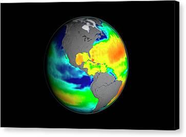 Sea Surface Salinity Canvas Print by Nasa/goddard Space Flight Center Scientific Visualization Studio