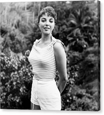 1950s Movies Canvas Print - Sea Wife, Joan Collins, On-set by Everett