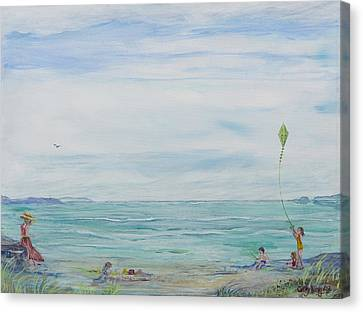 Seabreeze Beach Canvas Print by Cathy Long