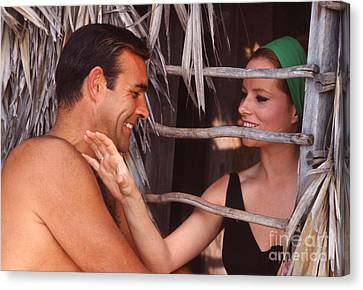 Sean Connery And Luciana Paluzzi Canvas Print by The Harrington Collection