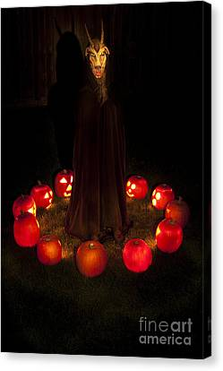 Seance Pumpkins Demon Canvas Print