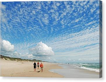 Canvas Print featuring the photograph Seascape by Ankya Klay
