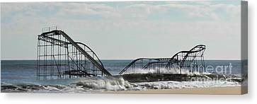 Seaside Heights Roller Coaster  - Paint Canvas Print by Sami Martin