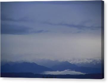 Seattle Blue Canvas Print by A K Dayton
